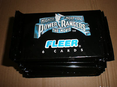 Power Rangers The Movie Trading Cards packs
