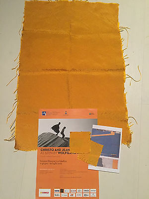 The Floating Piers Christo and Jeanne Claude Iseo Lake '16  fabric poster  map