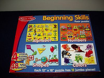 Melissa & Doug Beginning Skills Floor Puzzles #447 ABC's Shapes Colors Numbers