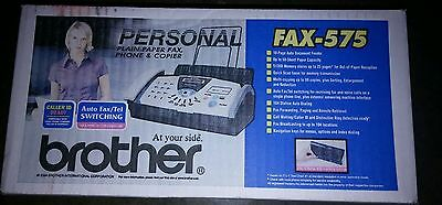 New SEALED IN BOX Brother FAX-575 Plain Paper Thermal transfer FAX PHONE COPIER