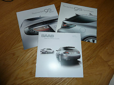 Saab 9-5 Saloon And Wagon Launch Brochure And Price List 2012 Mint And Rare