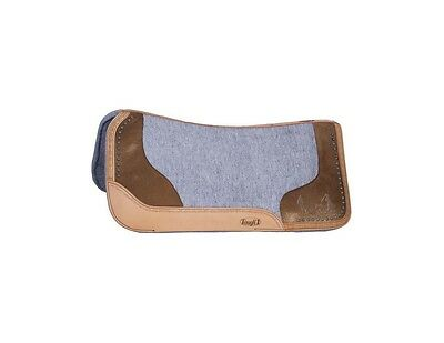 Tough-1 Saddle Pad Felt Laser Etched Motif Hair-On End Accent 31-4100