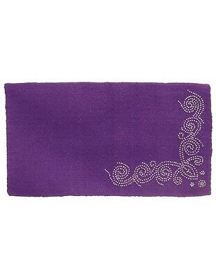 "Tough-1 Saddle Blanket Wool Designer Studs 34""x 38"" Purple 35-17895"