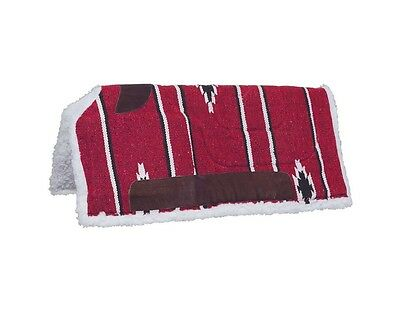 "Tough-1 Western Saddle Pad Sierra Cutback Felt 32"" x 32"" Red 31-646"