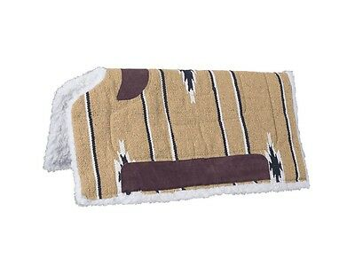 Tough-1 Saddle Pad Sierra Cutback Heavy Fleece Bottom Leather 31-642