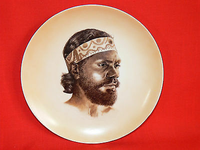 Vintage 1950's Australian Aboriginal Pictorial Ceramic Plate by Brownie Downing