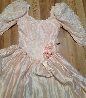 BEAUTIFUL Vintage Pink Lace Victorian Style Tea Garden Party Costume DRESS NWOT