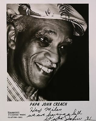 Legend Papa John Creach Original Autographed B&W Photograph, Jefferson Airplane