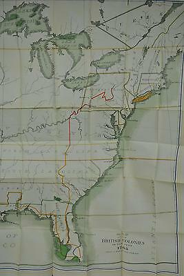 Map of the British Colonies in the Year 1765 Large Antique Lithograph A