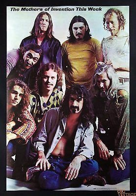 Frank Zappa Poster The Mother of Invention 1969 24 x 36 The Visual Thing B259