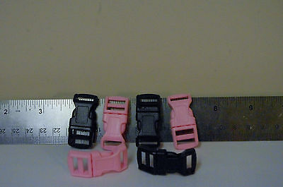 PLACSIT QUICK SIDE RELEASE BUCKLE pINK OR BLACK  SOLD IN UNITS OF 10