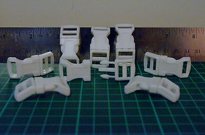 PLASCIT QUICK SIDE RELEASE BUCKLE   white IN UNITS OF 10