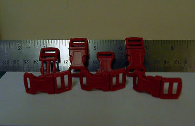 PLASCIT QUICK SID RELEASE BUCKLE   DEEP RED in units of 10per pack