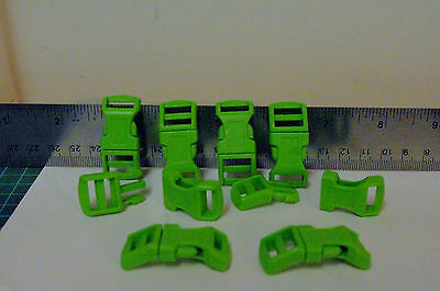 plascit quick side release buckle  GREEN sold in sets of 10 per pack