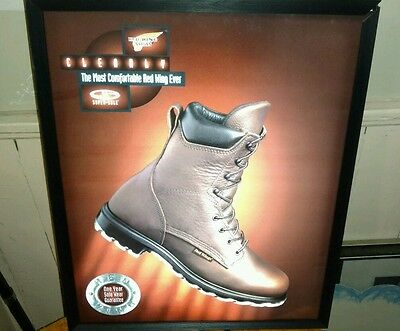 Vintage Red Wing Shoe Store Advertising Sign / Light