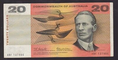 $20 Paper Banknote Commonwealth of Australia Coombs Wilson XBF  Series I-775