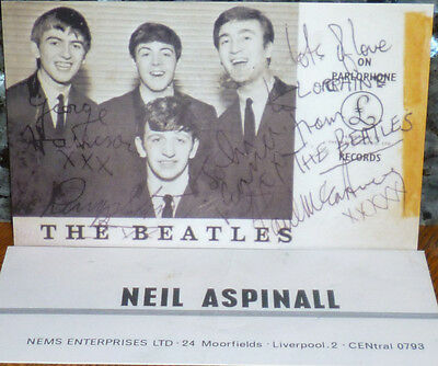 * * WOW! AUTOGRAPHED EARLY BEATLES SET LISTS on 2 FRAMABLE REPROS! SALE-PRICED!!