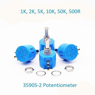 500R-500K Adjustable Resistance Rotary Wirewound Precision Potentiometer 3590S-2