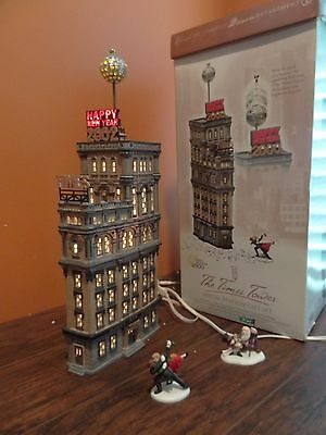VIDEO! Dept 56 55510 Times Square Tower Year New York Animated Ball Drop Village