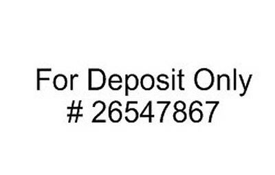 FOR DEPOSIT ONLY Custom Self Inking Rubber Address Stamp - 3 Lines- 9012