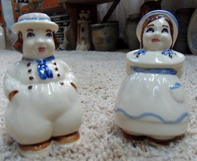 Vintage Shawnee Large Jack and Jill or Dutch Boy and Girl Salt and Pepper