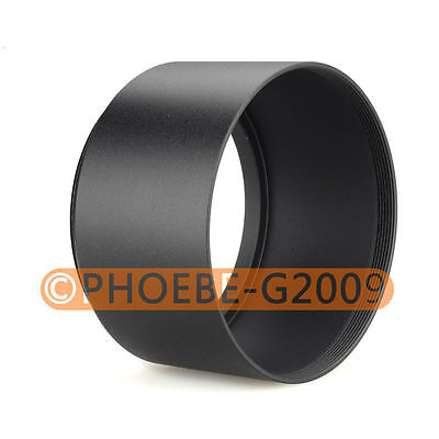 58mm Tele Metal Screw-in Lens Hood For Canon Nikon Sony Olympus Camera