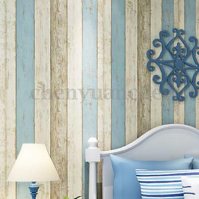 10M Realistic Wood Optic Panelling Timber Plank Wood Panel Stripe Wallpaper Roll