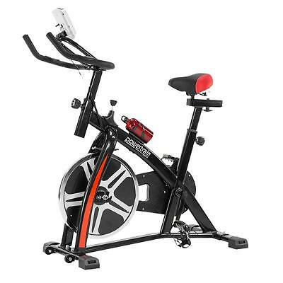 Exercise Flywheel Heavy Spin Bike Bicycle Fitness Home Gym Commercial LCD 32KG