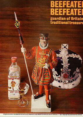 1980's Vintage ad for Beefeater Distilled London Dry Gin (030814)