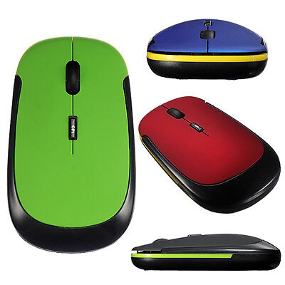 Ultra-Slim 2.4GHz Colored Wireless Optical Mouse for Laptop PC with USB Receiver