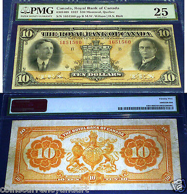 Royal Bank Of Canada  1927  $10 PMG 25 Wilson - Holt