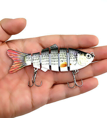 "Vivid 10cm/3.9"" Fishing Lures Crankbaits Hooks Bass Tackle Sinking Popper"