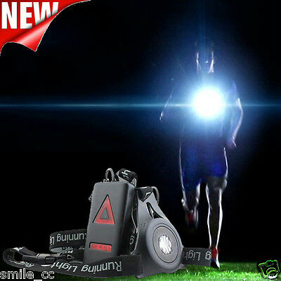 Outdoor LED Chest Light Night Running Warning Lights+Removable Fixing USB NEW