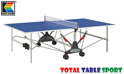 Blue Kettler Stockholm GT Outdoor Table Tennis Table With Bats, Balls & Cover