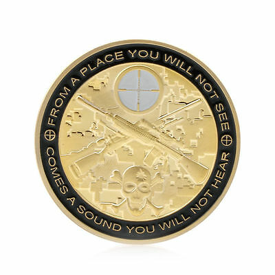 New You Can Run But You Will Only Die Tired Snipers Commemorative Coin Challenge