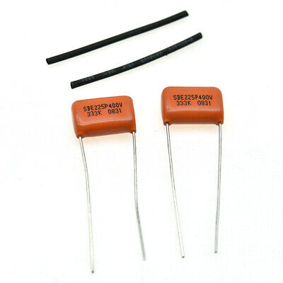 2pcs Guitar Bass Sprague 715P Orange Drop Capacitor .033uF 400v Tone Caps