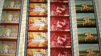 Disney's - Mary Poppins -  Rare Unmounted 35mm Film Cells - 4 Strips