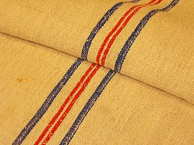 Antique European Feed Sack GRAIN SACK Red And Blue # 8025