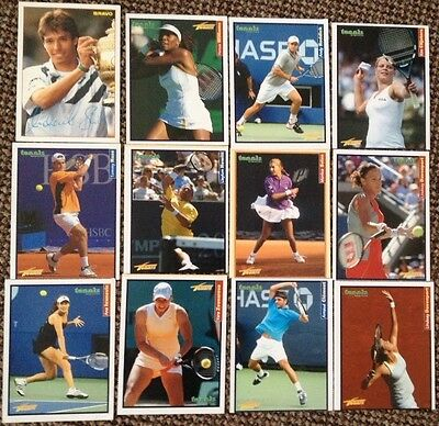 Tennis Cards Hewitt, Clijsters, Williams, Clement, Haas, Davenport, Ivanovic