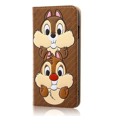 Disney Chip 'n Dale iPhone7 Universal Flip Cover Case - JAPAN NEW!! Officially