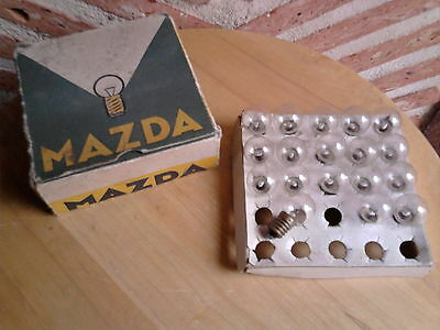 Lot de 15 ampoules blanches 6V 0,8W MAZDA NEUF