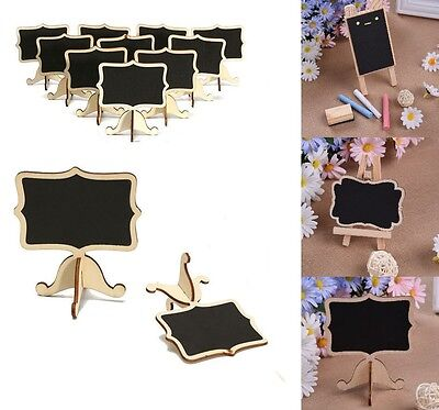 10Pcs Mini Wooden Chalkboard Blackboard Message Table Number Wedding Party Decor