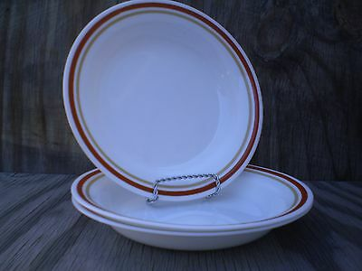 Corelle Dishes Cinnamon Set Of 3 Rimmed Pasta, Salad Or Chili Bowls