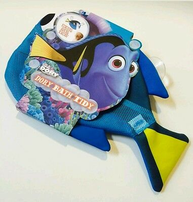 Dory Bath Time Toy Tidy Storage Organiser Bag With Two Suction Cup.