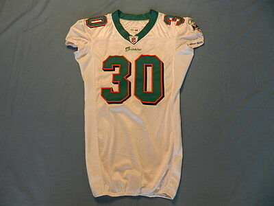 Chris Clemons 2011 Miami Dolphins game used jersey