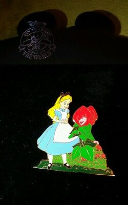 Disney Shopping Alice from Alice in Wonderland Fun with Flowers Series Pin