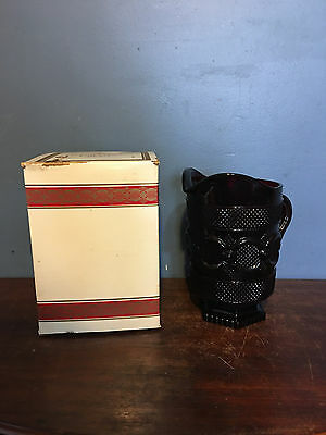 Avon 1876 CAPE COD Collection Ruby Red  Glass Footed Pitcher Box