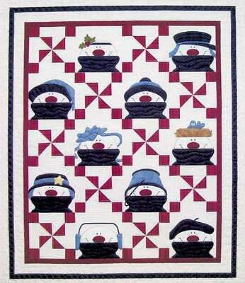 SNOW DAY SEW DAY QUILTING PATTERN, Fusible Applique From Amy Bradley Designs NEW