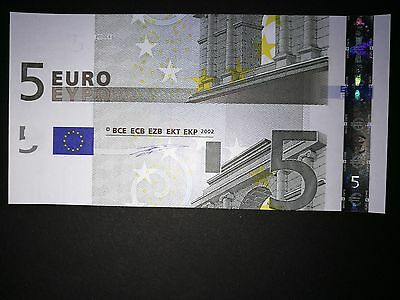 Germany 5 Euro Note 2002 Cutting Error And Different Serial Number-Unc