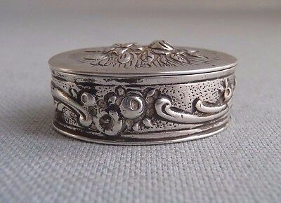 Antique European  Sterling Silver  Pill Patch Vanity Box